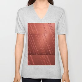 Red abstract awry chains Unisex V-Neck