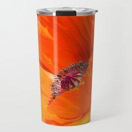 Orange Poppy by Teresa Thompson Travel Mug