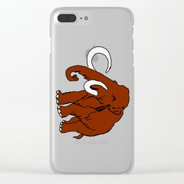 Woolly Mammoth Clear iPhone Case