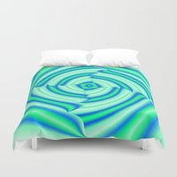 blues Duvet Covers featuring Blues by Elena Indolfi