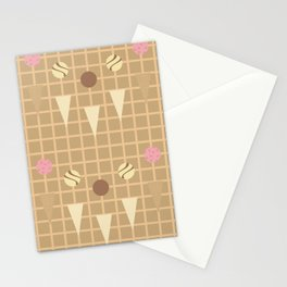 Ice Cream Cone Deconstructed Stationery Cards