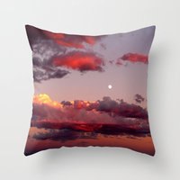 utah Throw Pillows featuring Utah Sunset by Jenna Weil