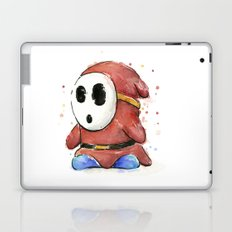 Shy Guy Watercolor Mario Art Laptop & iPad Skin