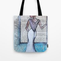 dress Tote Bags featuring Dress by Sarah Ridings