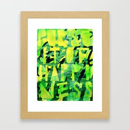 For Julie With Apologia (Customer Satisfaction, Entitlement, and the Pursuit of Happiness) Framed Art Print