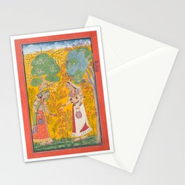 Vasanti Ragini, Page from a Ragamala Series, 1710 Stationery Cards