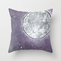 lunar Throw Pillows featuring Lunar by Cody Fisher