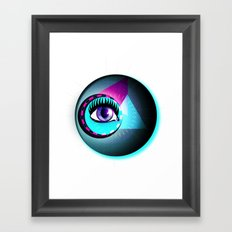 Halftone Eyeball Framed Art Print