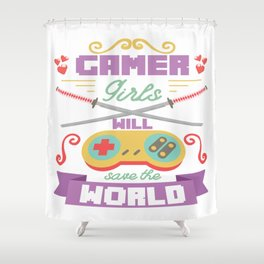 Funny Gamer Gaming Geek Nerdy Accessories Gift Shower Curtain