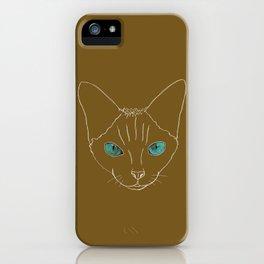 The Devon Rex Stare iPhone Case