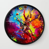 nba Wall Clocks featuring NBA by Don Kuing