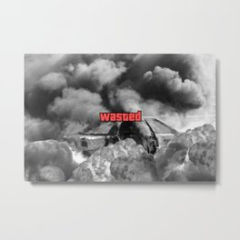 Wasted GTA Metal Print