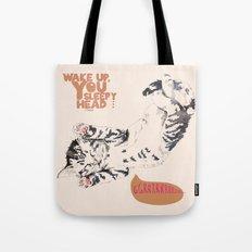 Wake Up Tiger - Beige Tote Bag