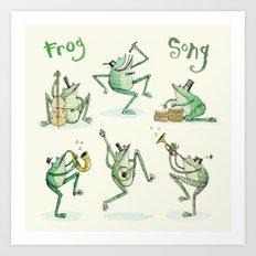 'Frog Song' Art Print
