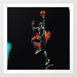 Kyrie Basketball Sports Star Brooklyn Net Art Print