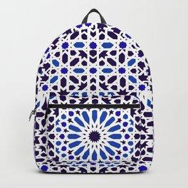 -A18- Original Traditional Moroccan Tile Design. Backpack