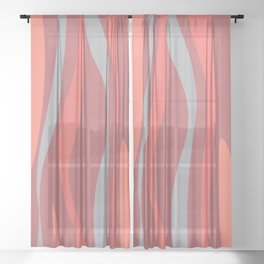 Abstract composition Sheer Curtain