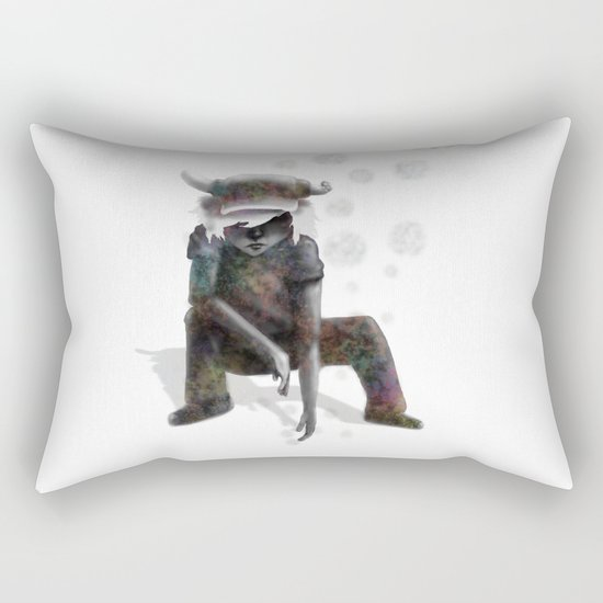 Sifting through for memories Rectangular Pillow