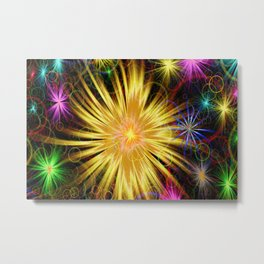 Background christmas star advent Metal Print