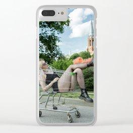 Smokey Feet Clear iPhone Case