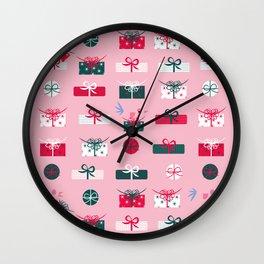 Giftmas - Pink Wall Clock