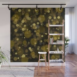 Elegant black gold yellow abstract bokeh pattern Wall Mural