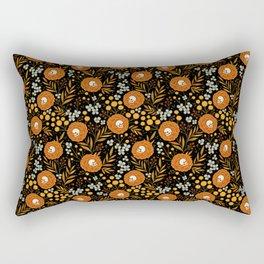 Halloween floral tattoo autumn pattern Rectangular Pillow