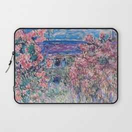 The House among the Roses by Claude Monet Laptop Sleeve