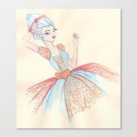 marie antoinette Canvas Prints featuring Marie Antoinette by carotoki