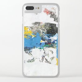 Crow Abstract Art Clear iPhone Case