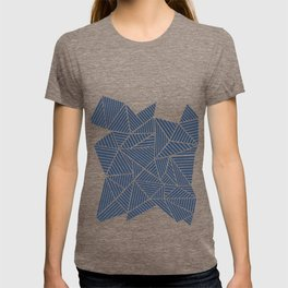 Abstract Mountain Navy T-shirt