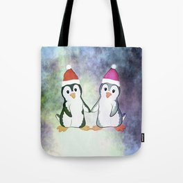 Penguin Love Christmas Tote Bag
