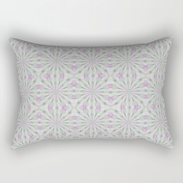 Rosettes in Purple and Green Rectangular Pillow