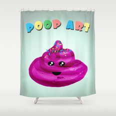 POOP ART Shower Curtain