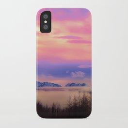 Alaskan Winter Fog Digital Painting iPhone Case