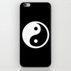Yin Yang Black White iPhone & iPod Skin