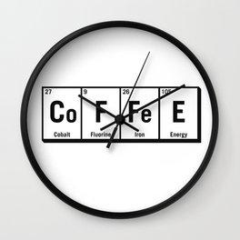c.o.f.f.e.e Wall Clock