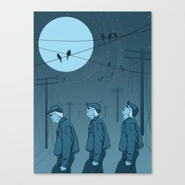 Birds and Men Canvas Print