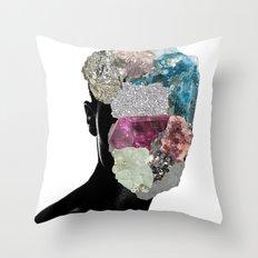 CrystalHead Throw Pillow