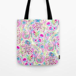 Paisley Watercolor Brights Tote Bag