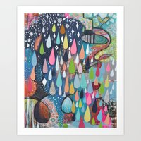 come rain or shine Art Print