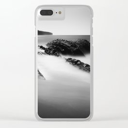 Uncovered Bowling Ball Beach Mendocino coast Clear iPhone Case
