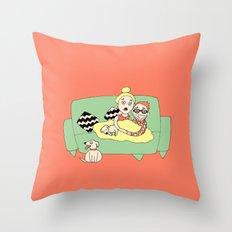 Watching Breaking Bad Throw Pillow