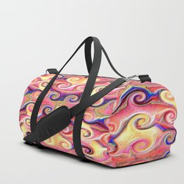 Colorful Seamless Wave Spiral Abstract Pattern Duffle Bag