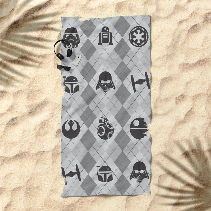 Galactic Pattern Beach Towel