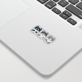 kawaii huskies Sticker