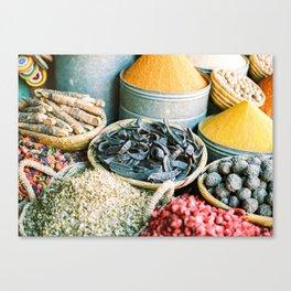 "Travel photography ""Souk Marrakech"" Spices of the Medina | Morocco photography Canvas Print"