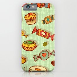 candy and pastries iPhone Case