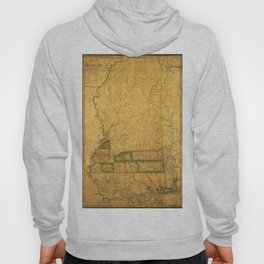 Map Of Mississippi 1820 Hoody