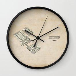 Treasure Map - 45th Chamber Wall Clock